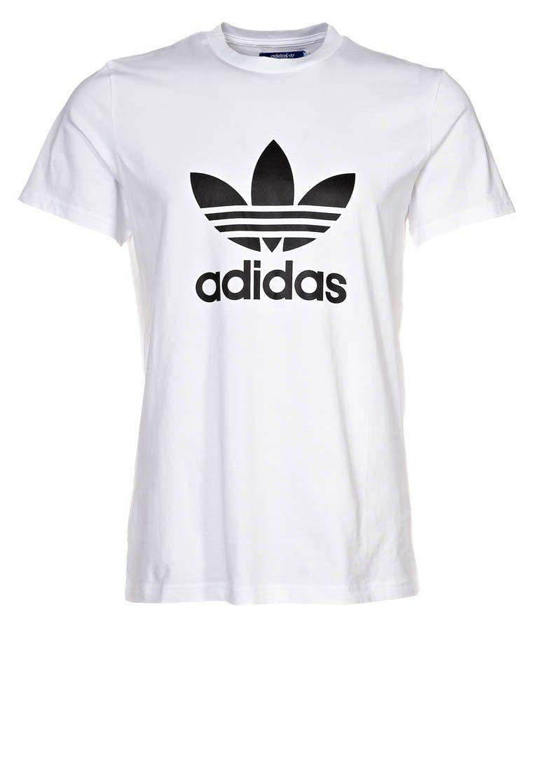 adidas Originals - ADI TREFOIL - T-shirt print - Wit ...