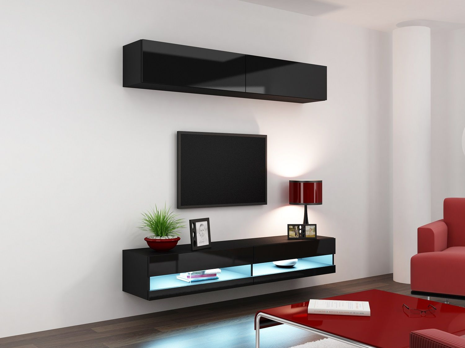 Mega Muebles Mueble Tv Lcd Vajillero Rack Horizontal Led Mega Cell