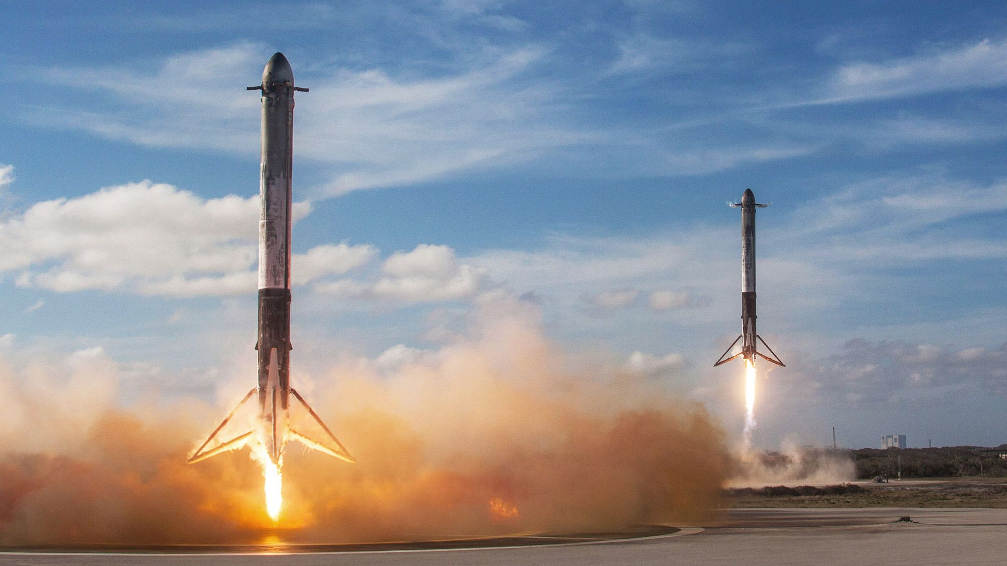 Falcons Spacex Space Exploration Earth Science