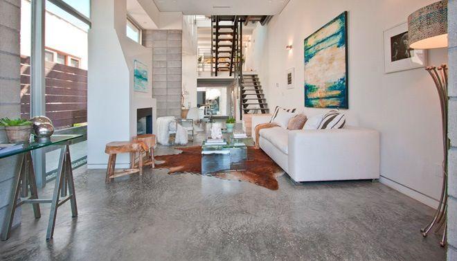 Woonkamer Met Beton : Gepolierde beton in woonkamer g pixels vloer huis