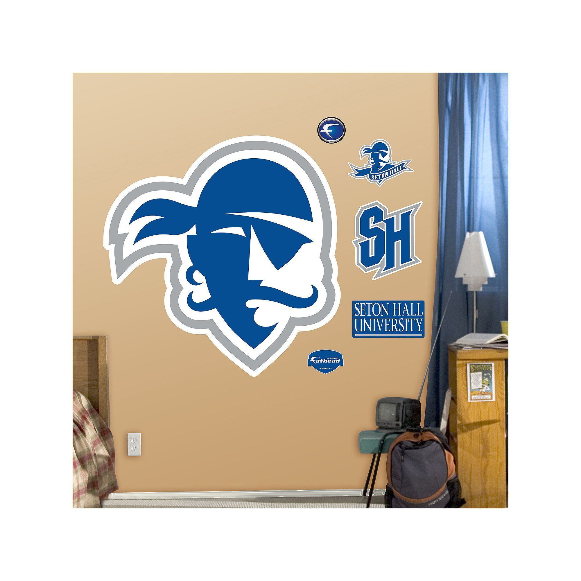 fathead seton hall pirates logo wall decals multicolor on wall stickers for hall id=84847