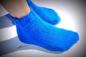 Hand knit socks.