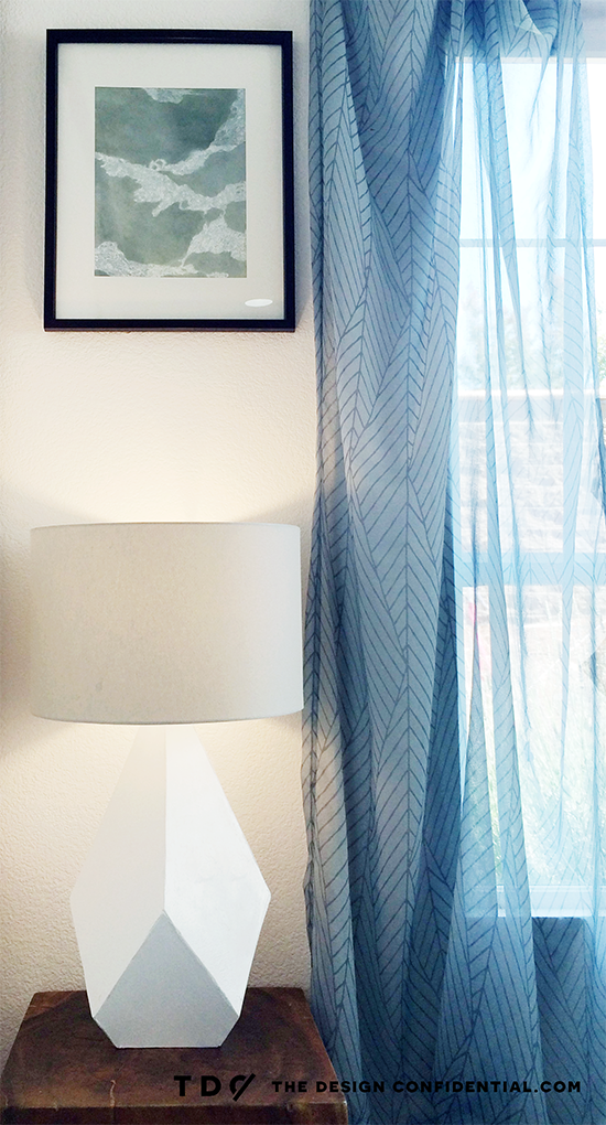 DIY Over-Sized Geometric Lamp Project Using Mat Board