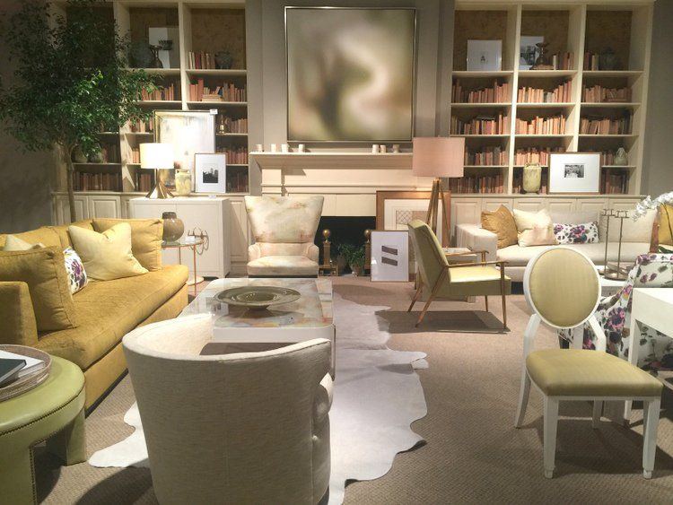 Yellow Color Trend In Century Furniture Showroom At High Point Furniture Market Interior