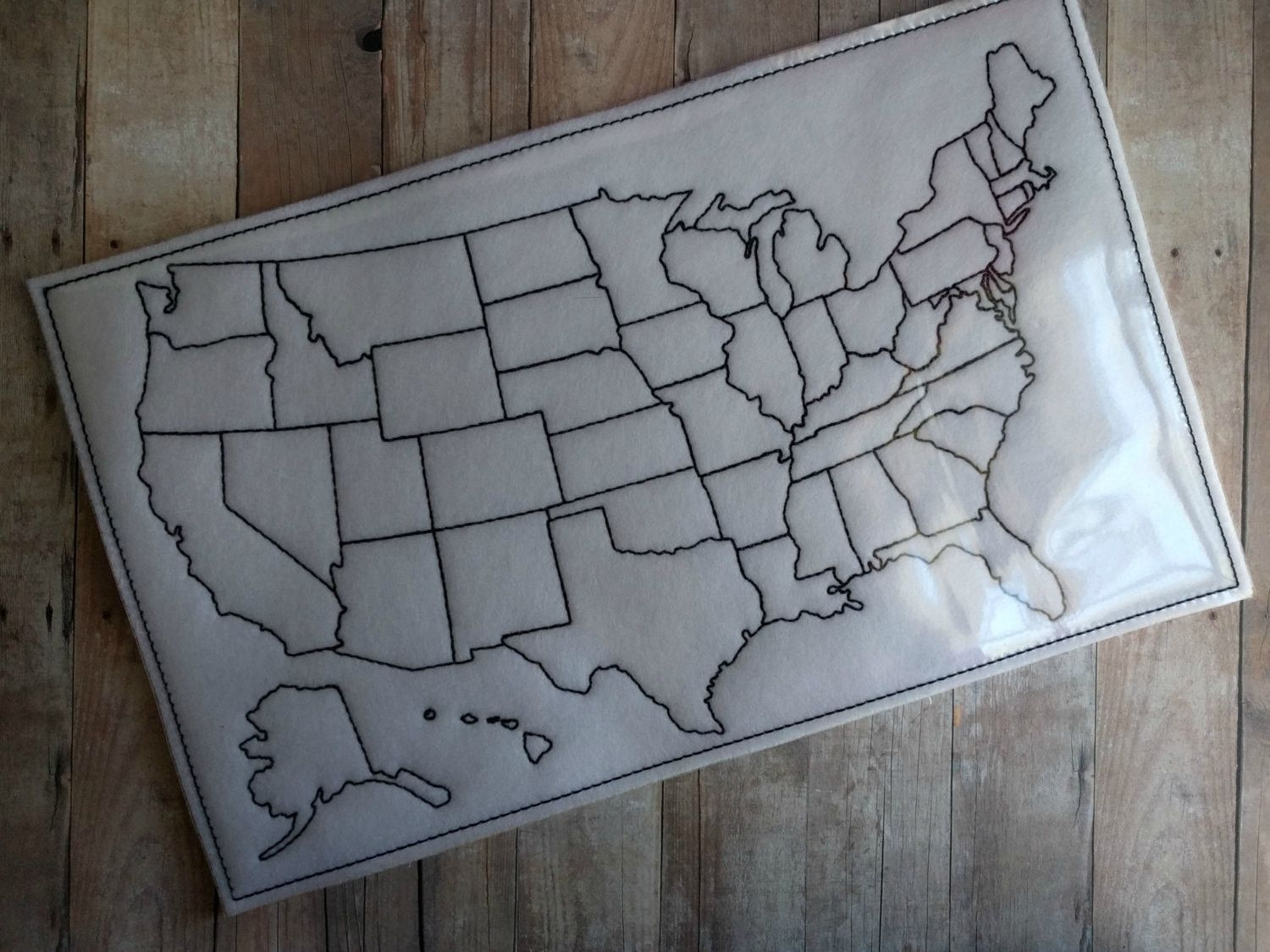 USA Map Dry Erase Board Overlays Vinyls And Acrylics - Us map dry erase