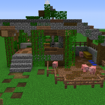 Jungle Butcher House Blueprints for MineCraft Houses Castles Towers and more