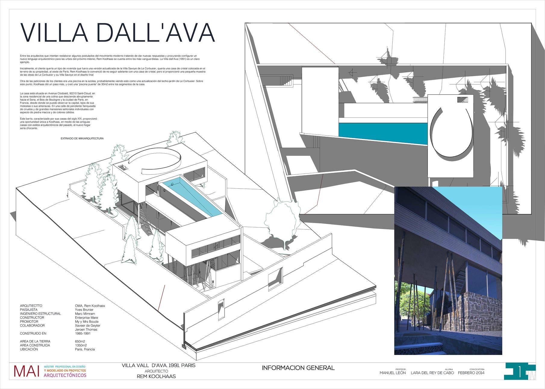 Rem koolhaas villa dall ava paris france 1991 atlas of - Villa Dall Ava Lara Del Rey
