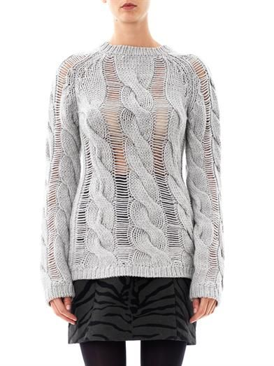 Carven Twisted Cable Knit Sweater
