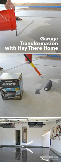 How to paint your garage floor garage makeover clean for Diy garage floor cleaner