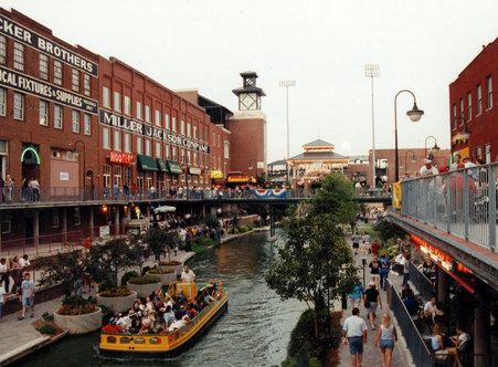 b is for the bricktown entertainment district located in
