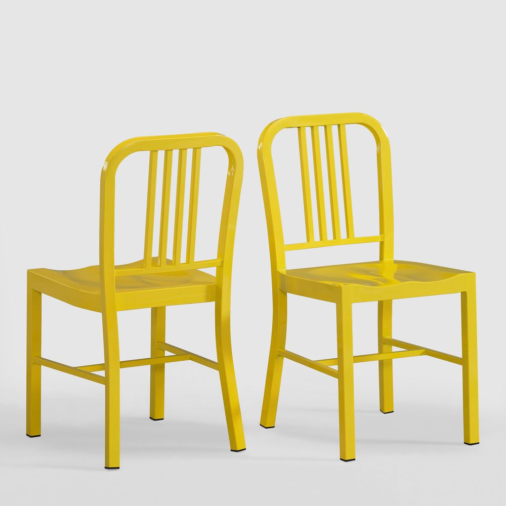 lemon metal side chairs set of 2 overstock com shopping great