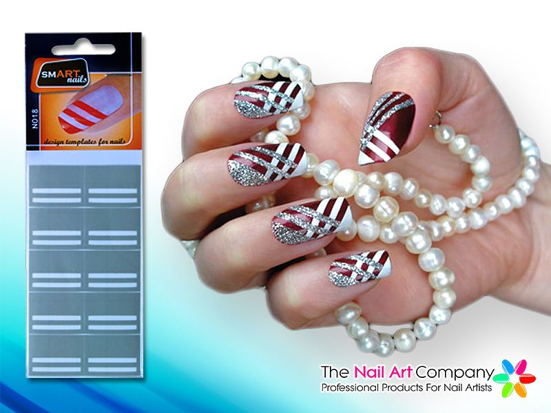 The Nail Art Company Smart Nails Stripes Nail Art Stencil Set