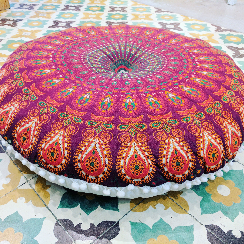 Poufs Floor Cushions Pouf Ottoman Meditation Cushion Pouffe Floor ...