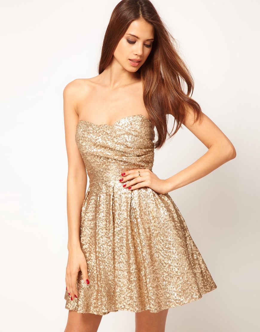 Gold sequin dress wedding things pinterest tfnc sequins and prom