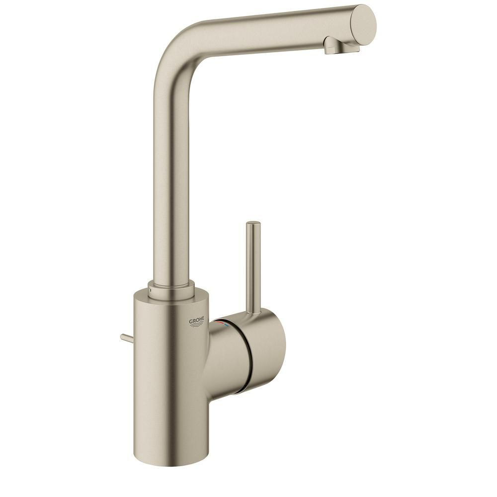 Grohe Concetto Single Hole Single Handle Bathroom Faucet In Starlight Chrome 23737001 The Home Depot Bathroom Faucets Faucet Single Hole Bathroom Faucet [ 1000 x 1000 Pixel ]