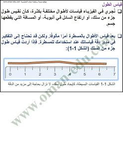 قياس الطول والحجم فيزياء للصف التاسع الفصل الدراسي الاول In 2021 Math Blog Posts Blog