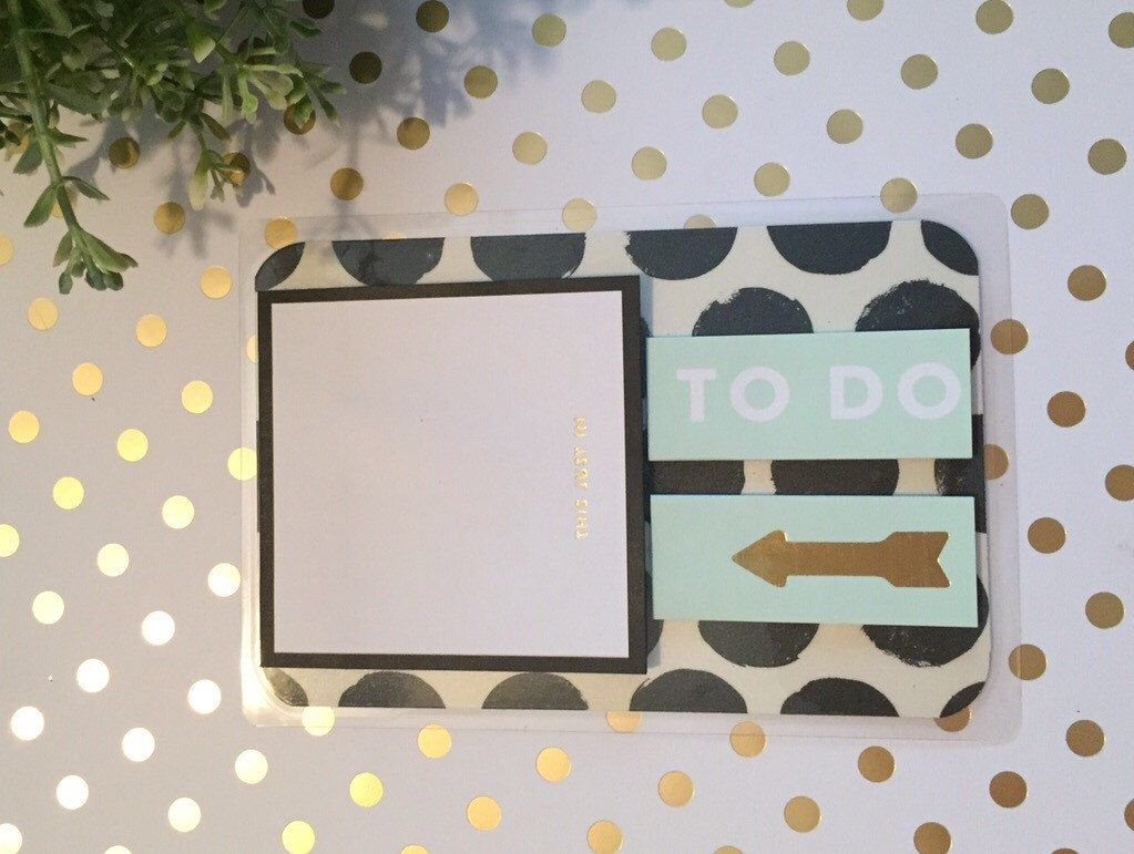 Dashboard w/Kate Spade Sticky Notes / Planner / ECLP / Erin Condren / by PugPaperCo on Etsy https://www.etsy.com/listing/263470146/dashboard-wkate-spade-sticky-notes