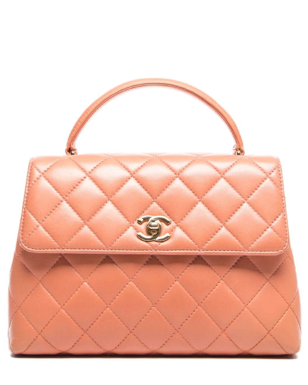 b8d685e98471 Spotted this Chanel Salmon Pink Quilted Lambskin Small Kelly Flap Bag on  Rue La La. Shop (quickly!)