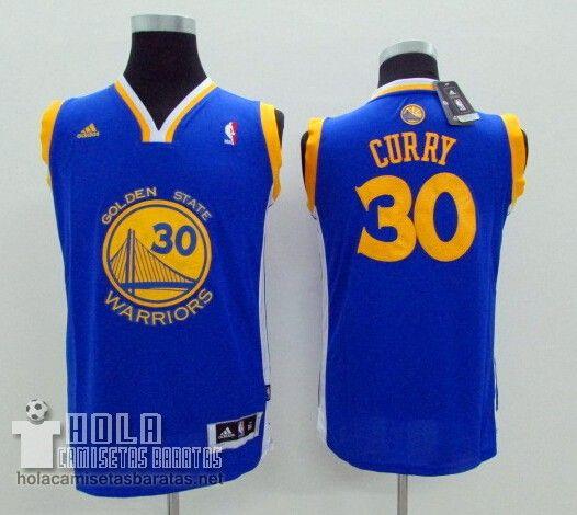 4d7f6b443 Camiseta Niños Golden State Warriors Azul  30 Curry €21.9