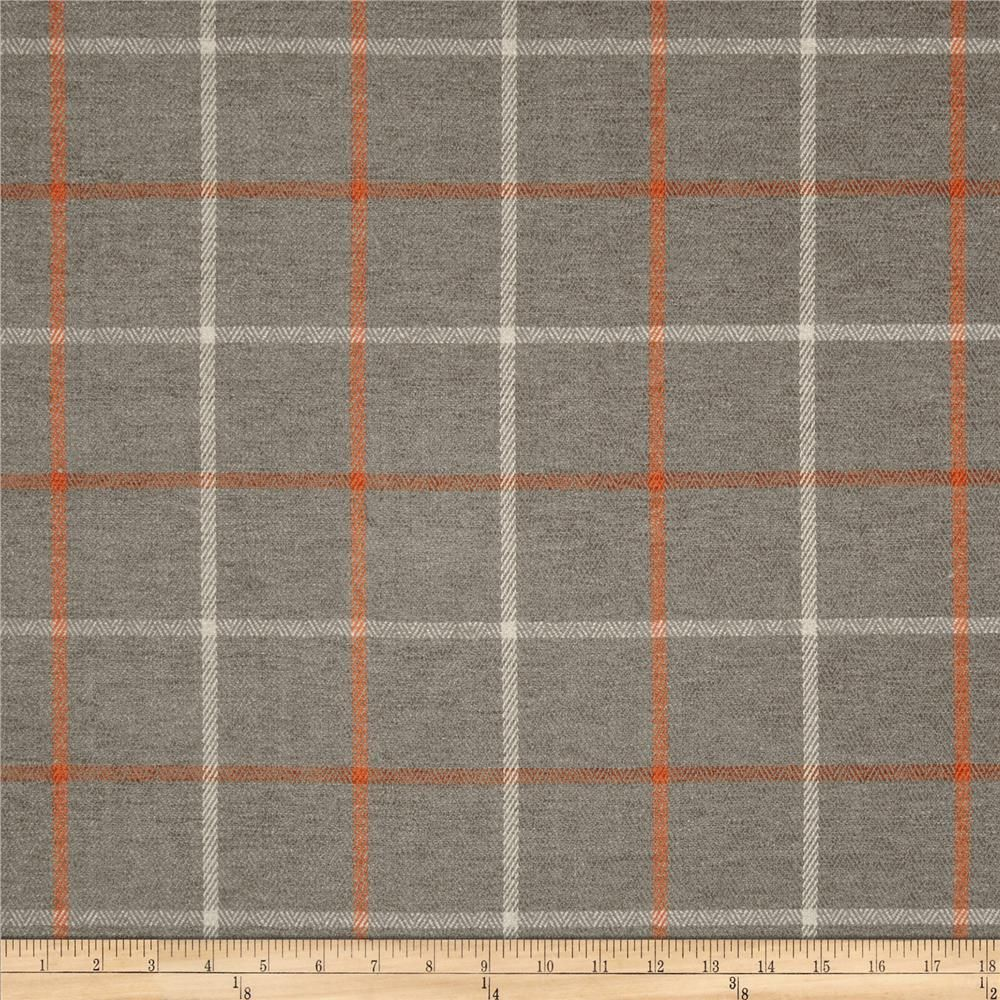 Plaid Taupe Kaslen Pennington Ii Plaid Taupe Orange From Fabricdotcom Refresh