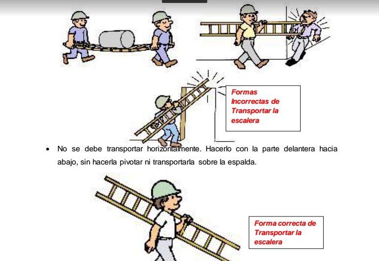 Sgsst gu a uso y trabajo seguro con escaleras de mano - Escaleras de trabajo ...