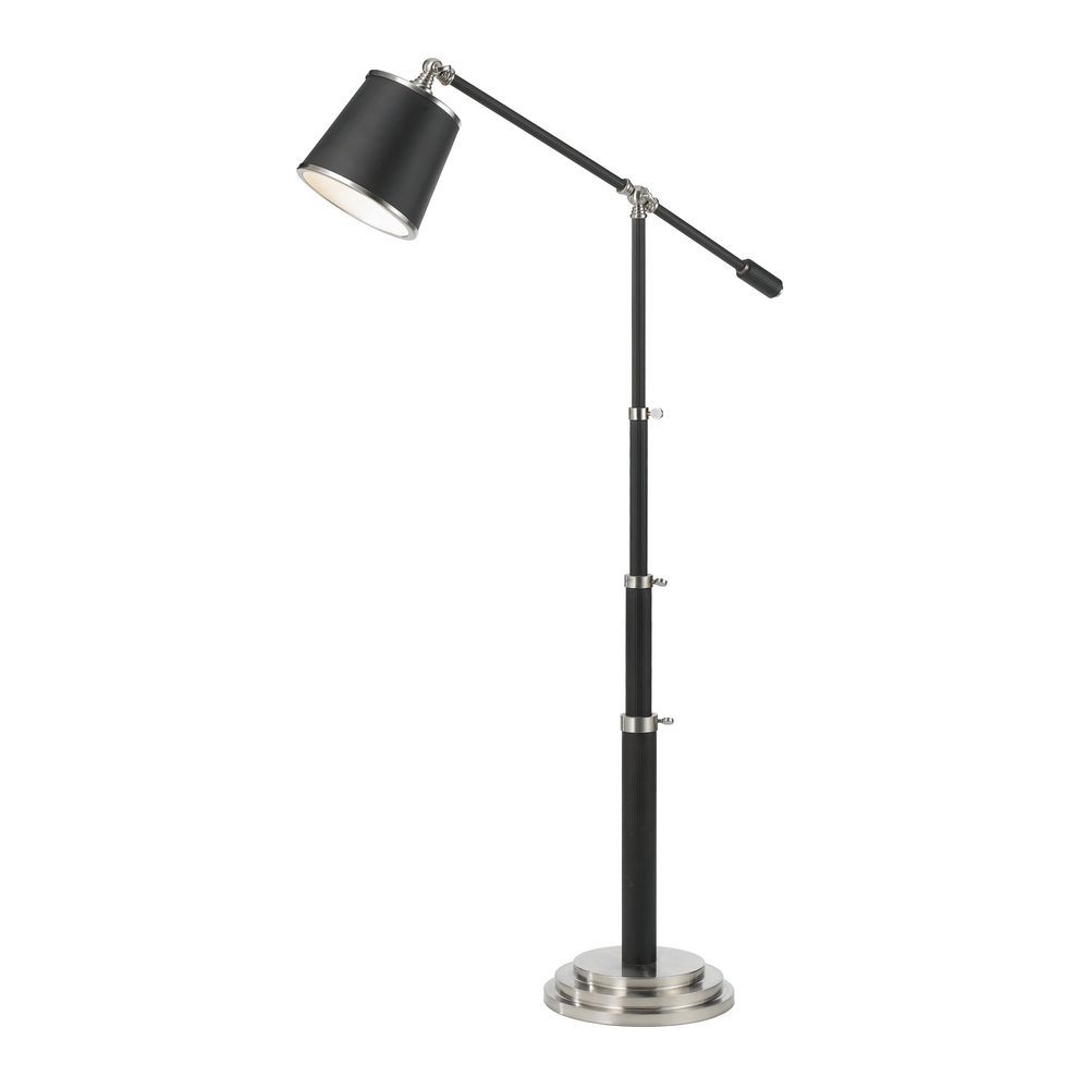 Art Deco Swing Arm Lamp Oil Rubbed Bronze with Satin Nickel Scope by ...