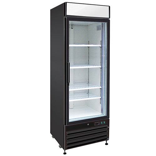 Kratos Refrigeration 69k 812 Swing Glass Door Freezer Merchandiser 1 Door 27 W Black Exterior In 2020 Glass Door Upright Freezer Double Pane Glass