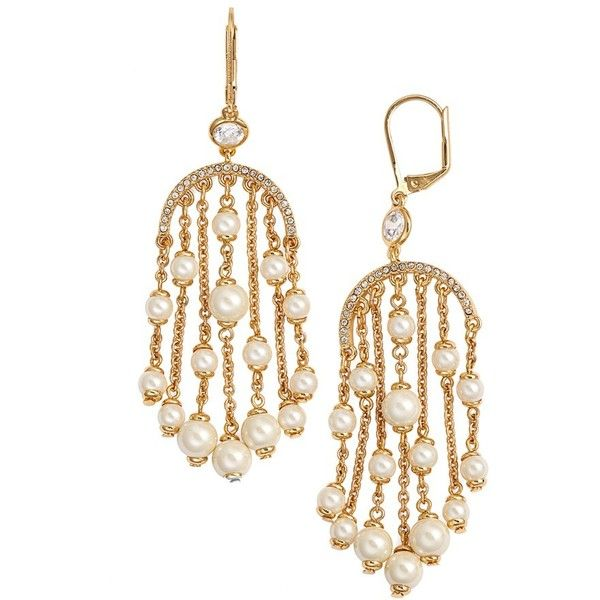 kate spade new york \'pearls of wisdom\' chandelier earrings ($98 ...