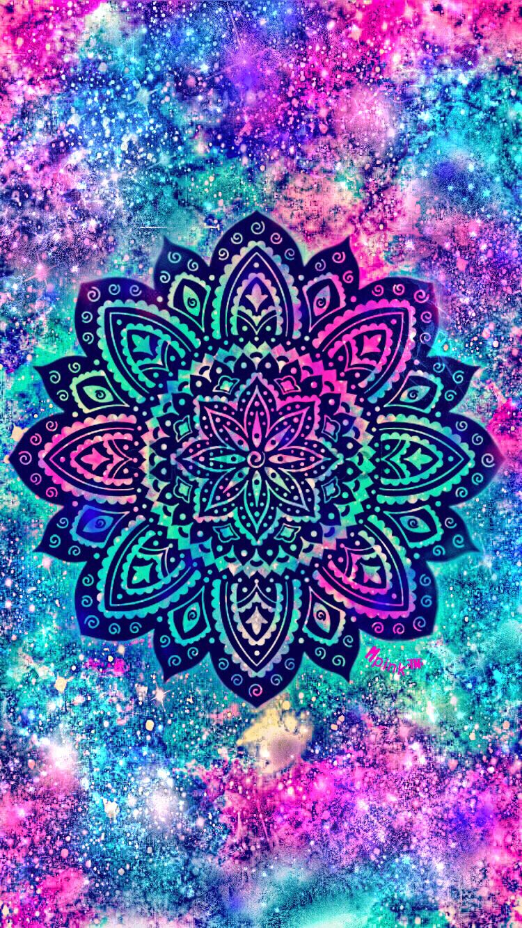 Shimmer Mandala Galaxy iPhone/Android Wallpaper I Created ...