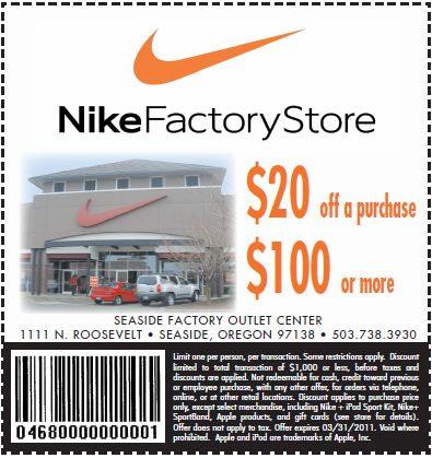 nike outlet store printable coupons 2015