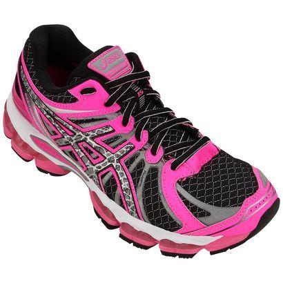 tenis asics rosa e preto