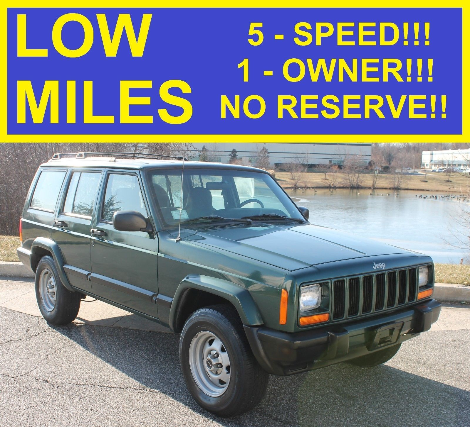 eBay: 1999 Jeep Cherokee SPORT NO RESERVE 123K MANUAL 1-OWNER 1999 JEEP  CHEROKEE 4X4 SPORT! LIMITED 00 01 98 97 #jeep #jeeplife