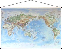 Physical world canvas map pinterest wall maps canvases and the giant sized canvas pacific centred telegram world physical wall map is a highly detailed beautiful contemporary map of the world gumiabroncs Image collections