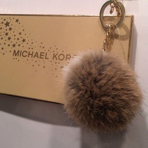 Michael Kors Genuine Fur Pom Pom Keychain
