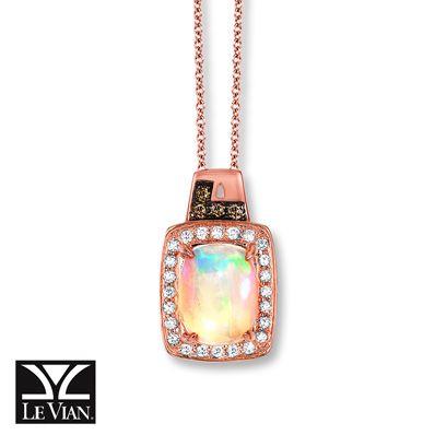 Le Vian LeVian Chocolate Diamonds 1/6 cttw Necklace 14K Strawberry Gold nQud3