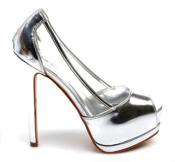 Peep Toe Czyli Bez Palca Przezroczyste Szpile R41 3202636743 Oficjalne Archiwum Allegro Stiletto Heels Heels Peep Toe