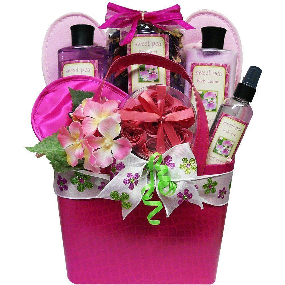 Art of Appreciation Tickled Sweet Pea Spa Bath and Body Gift Basket