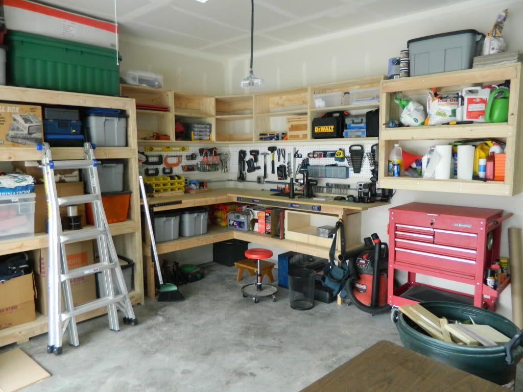 My diy cabinetsshelves the garage journal board storage