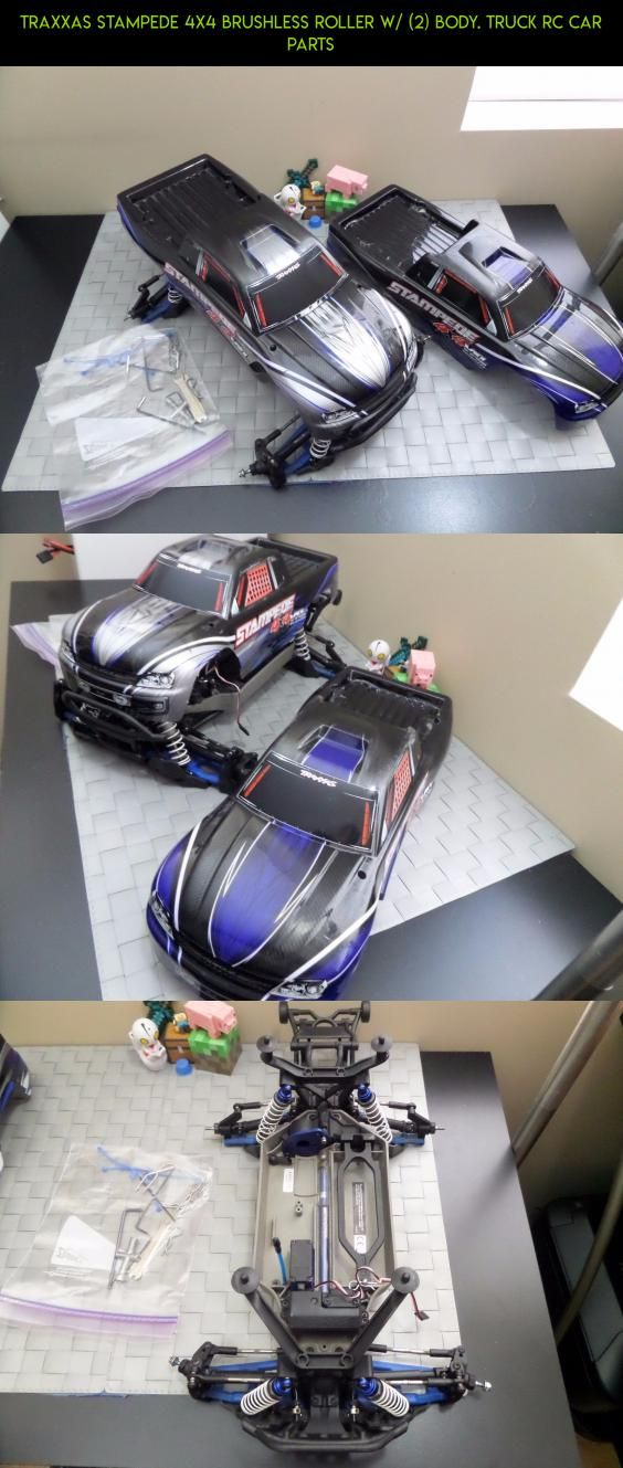 Traxxas Stampede 4x4 Brushless Roller W 2 Body Truck Rc Car Parts Products Gadgets Cars Fpv Rc Technology S Traxxas Traxxas Stampede Rc Cars Traxxas