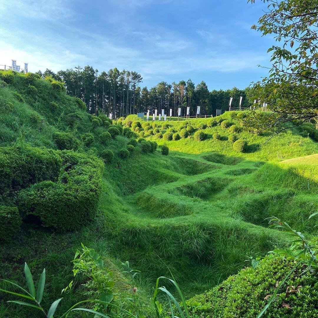 * 抹茶ワッフルのような #障子堀 の山中城 . . . . #山中城  #日本100名城 #静岡県 #三島市 #山城 #城巡り #山中城跡公園 #城址 #お城 #城 #castle #castleruins #Japan  #ig_japan  #travelasia #travel #traveling #visiting #trip #travelling #mytravelgram #travelgram #travelingram #travelphotography #traveller #travelers #landscape