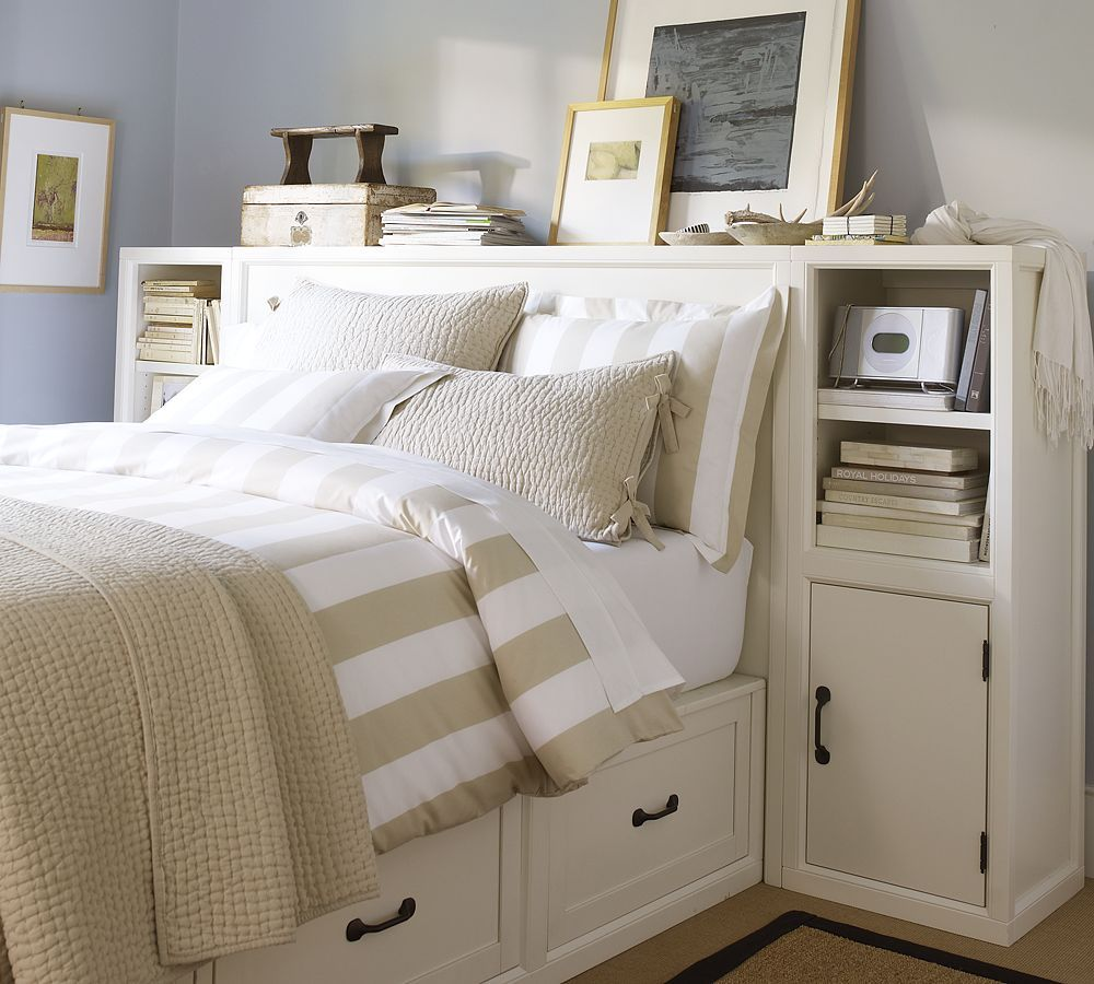 Functional headboard...love the concept not sure this is