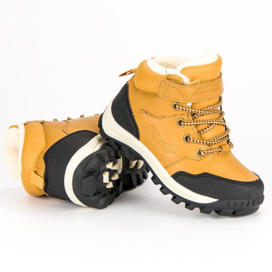 Polbuty I Trzewiki Dzieciece Dla Dzieci Arrigobello Arrigo Bello Zolte Cieple Obuwie Na Zime Hiking Boots Shoes Boots