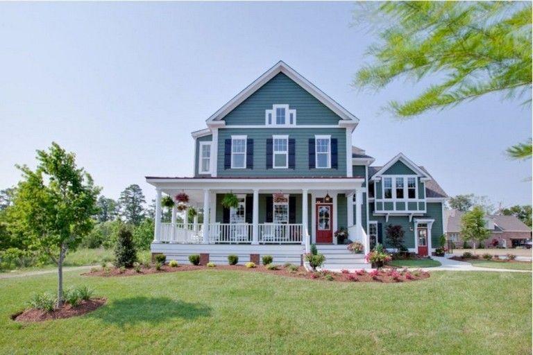 35 brilliant country farmhouse with wrap around porch ideas home rh pinterest com