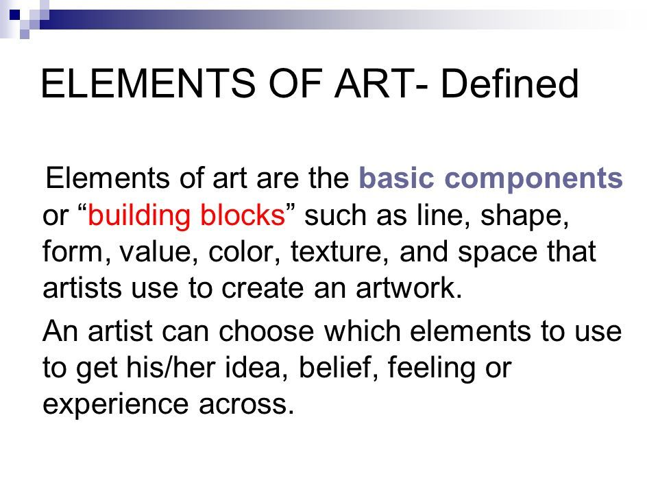 Elements Of Art Space Definition : Elements of art definition visual arts unique expressions