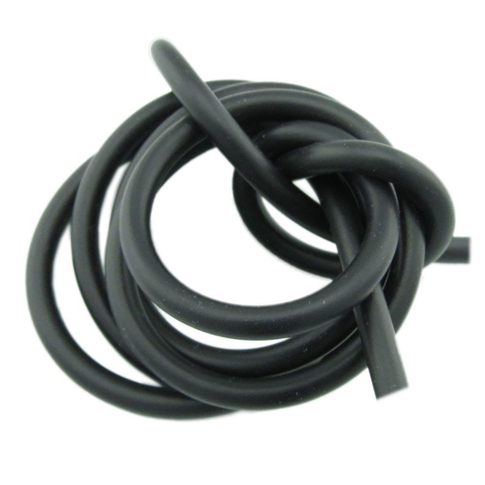 1m Kautschuk Band 5mm (2,48€ pro m) schwarz rund Kautschukband ...