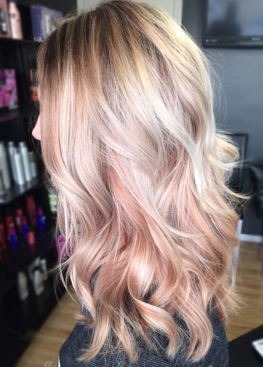 38 Rose Gold Hair Color Ideas 2017 Hairmake Upstyle Pinterest