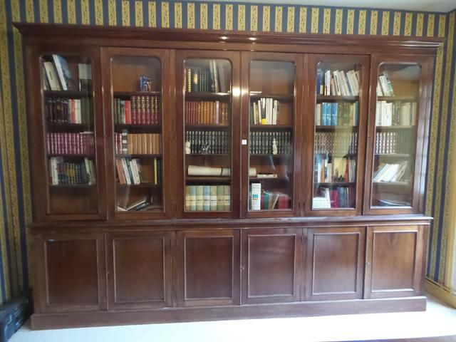 Bibliotheque En Acajou Et Placage D Acajou Ouvrant A Six Vantaux Et Six Portes Vitrees Travail Anglais H 2 Mobilier De Salon Porte Vitree Vente Aux Encheres