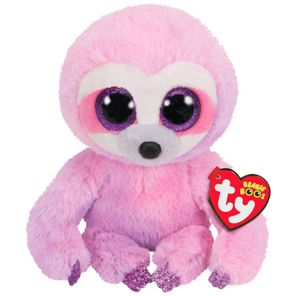 "TY Beanie Boos 6/"" DREAMY Purple Sloth Plush Stuffed Animal Toy MWMTs Heart Tags"