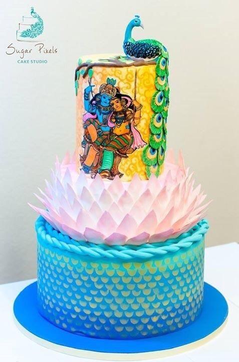 An Indian themed wedding cake - Cake by Rakesh Menon in ...