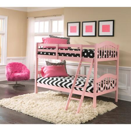 Storkcraft Long Horn Bunk Bed Pink Homey Pinterest Bunk Beds